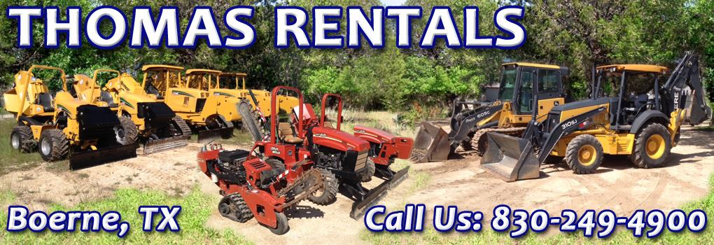 Thomas-Rentals Heavy Equipment & Machinery